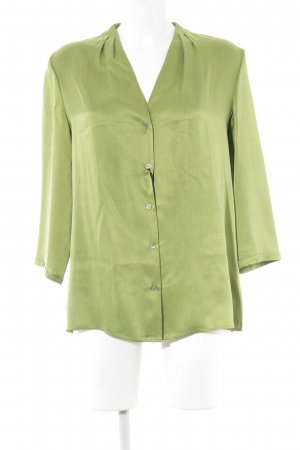 Hauber Langarm-Bluse neongrün Elegant
