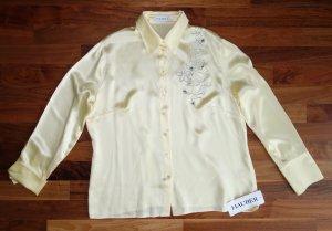 Hauber Blusa de seda amarillo pálido-amarillo