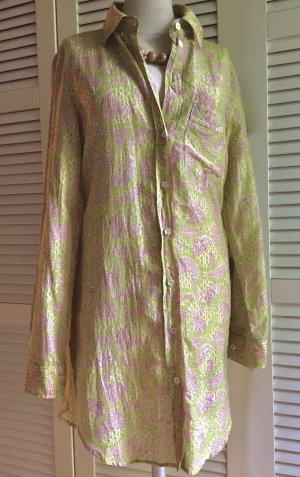 0039 Italy Tunic Dress multicolored silk