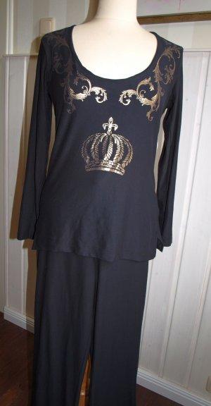Pompöös Chándal negro-color oro tejido mezclado