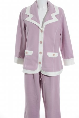 Leisure suit pink-white fluffy