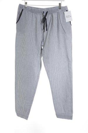 Hausanzug weiß-dunkelblau Streifenmuster Segel-Look