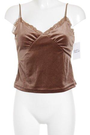 HAUSOFDECK Spitzentop bronzefarben Street-Fashion-Look