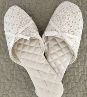 Zara Ciabatta aperta bianco sporco