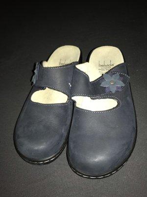 Pantoufles bleu foncé