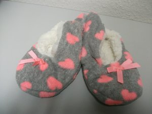 Slipper Socks dark grey-pink synthetic fibre