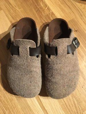 Zara Chaussures gris brun-marron clair