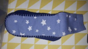 House Shoes white-blue
