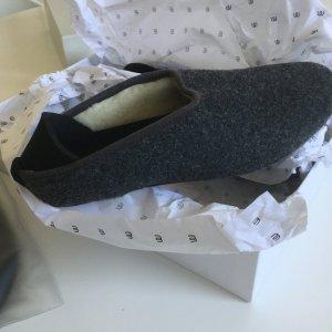 Zapatillas para casa gris antracita-negro