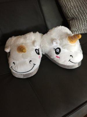 Hausschuhe / Pantoffeln Einhorn, NEU, ungetragen, Onesize
