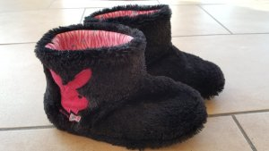 Playboy Zapatillas para casa negro-rosa