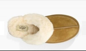 UGG Scuffs beige-camel leather