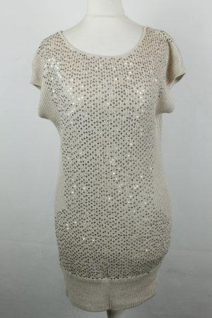 Haute Hippie Kleid Strickkleid Gr. XS creme Pailletten
