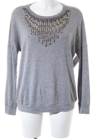 Haute hippie Wollpullover grau-silberfarben Elegant