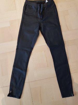 Only Pantalone in pelle nero Finta pelle