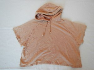 hautfarbenes kurzarm Sweatshirt