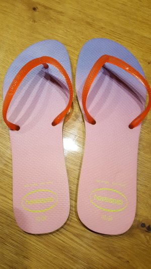 Havaianas Flat Sunset Lime/Strawberry Pink Flip Flops