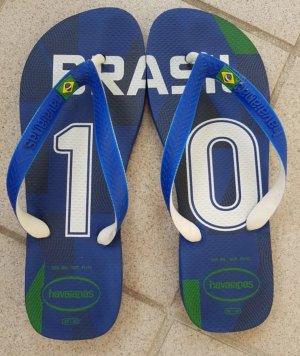 """Havaianas Flip Flop Sandalen """"Brasil"""", blau/weiß Größe: 39-40"""
