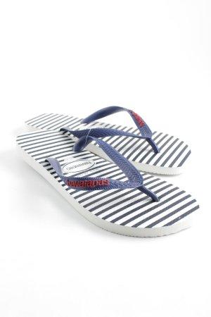 Havaianas Flip Flop Sandalen dunkelblau-weiß Streifenmuster Beach-Look