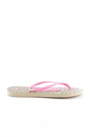 Havaianas Flip Flop Sandalen pink Animalmuster Casual-Look