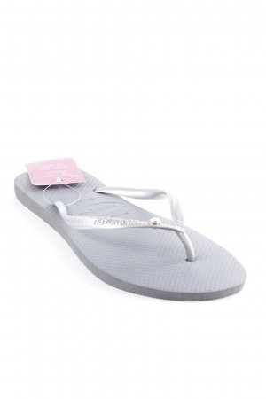 Havaianas Flip-Flop Sandals silver-colored-grey beach look