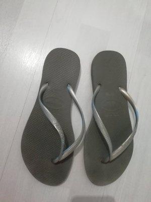 Havaianas Flip-flops Sandalen Silber Grau