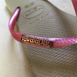 Havaianas Flip-Flop Sandals sand brown-pink