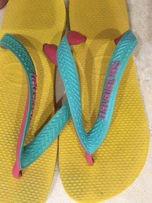 Havaianas gelb 37 Mädchen Zehensandalen Glip Flop
