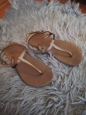 Havaianas Toe-Post sandals bronze-colored-gold-colored