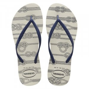 Havaianas Beach Sandals natural white-dark blue synthetic material