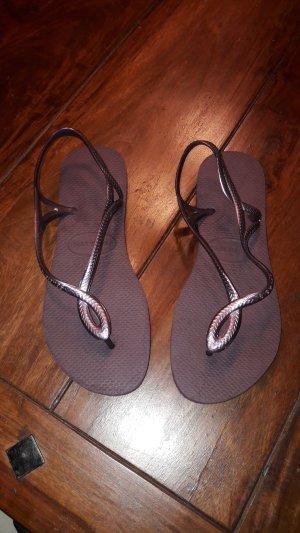 Havaianas T-Strap Sandals brown violet