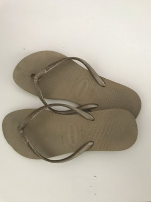 Havaianas Flip-Flop Sandals gold-colored