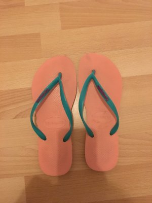 Havaianas High-Heeled Sandals pink-turquoise