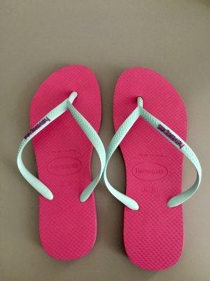 Havaianas, pink und hellblau, 36, Neu