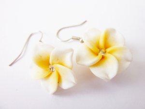 Hawaii Blüten Ohrringe Tikki Frapiani Rockabilly Schmuck