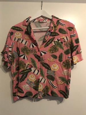 Mango Hawaiian Shirt pink-green
