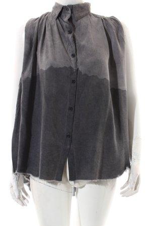 Haze & Glory Crash-Bluse grau Washed-Optik