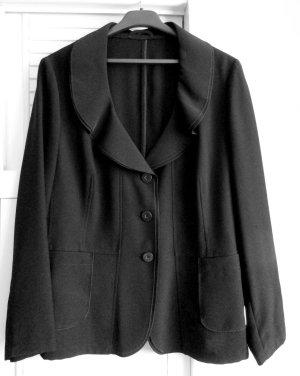 HB - schöner schwarzer Blazer Blusen-Blazer Figurbetont schwarz, Gr. 46