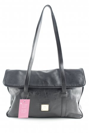 HCL Shopper schwarz Monogram-Muster Casual-Look