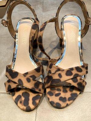 Head over heels Sandales à talons hauts et lanière marron clair-noir
