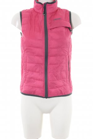 Head Quilted Gilet pink quilting pattern casual look