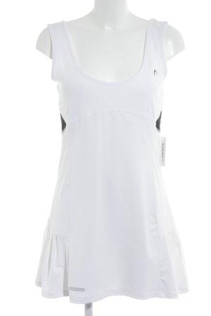 Head Trägerkleid weiß-schwarz sportlicher Stil