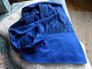 Headhunter Sciarpa lavorata a maglia blu-blu scuro Cachemire
