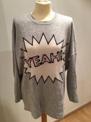 Headhunter cashmere pullover mit yeah eingestrickt