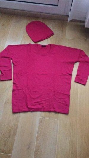 Headhunter cashmere pullover pink mit passendem beenie Mütze