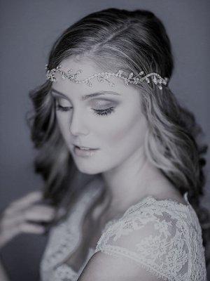 Haarband zilver Metaal