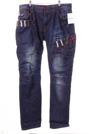 heart Straight-Leg Jeans dunkelblau Casual-Look