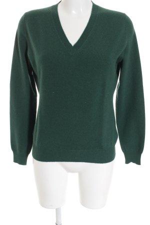 Heartbreaker Cashmerepullover waldgrün-ziegelrot Casual-Look