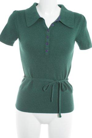 Heartbreaker Kurzarmpullover waldgrün-dunkelviolett Casual-Look