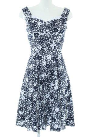 Hearts & Roses Bustier Dress white-black flower pattern casual look